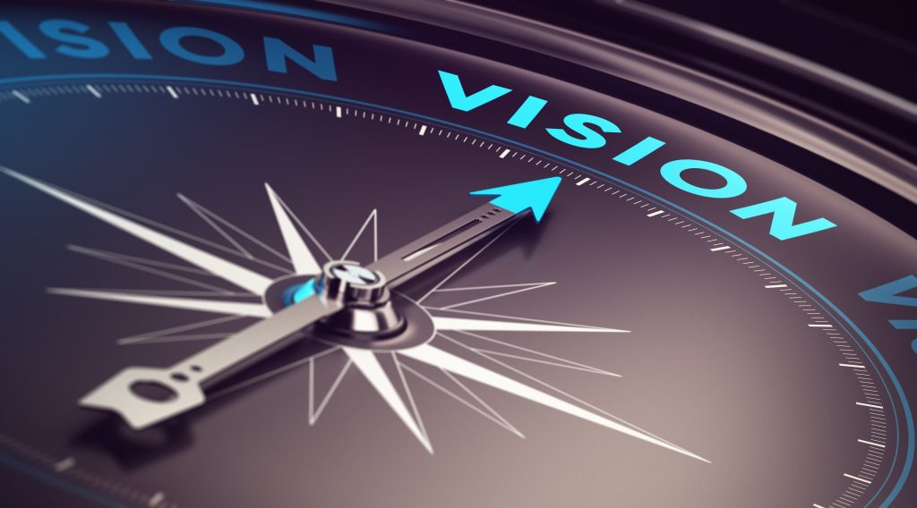 Vision on a business plan