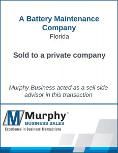 A Battery Maintenance Company Sold by Murphy Business Clearwater Office