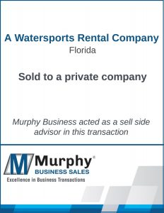 A Watersports Rental Company Sold by Murphy Business Clearwater Office