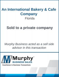A Bakery Company Sold by Murphy Business Clearwater Office