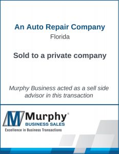 An Auto Repair Company Sold by Murphy Business Clearwater Office