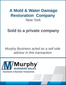 A Mold & Water Damage Restoration Company Sold by Murphy Business Clearwater Office