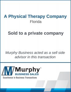 A Physical Therapy Company Sold by Murphy Business Clearwater Office