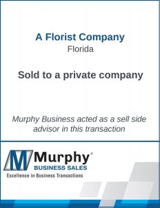 A Florist Company Sold by Murphy Business Clearwater Office