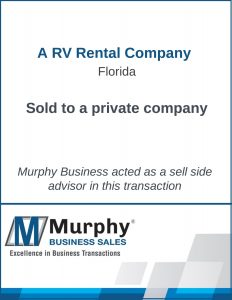 A RV Rental Company Sold by Murphy Business Clearwater Office