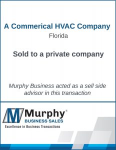 A Commercial HVAC Company Sold by Murphy Business Clearwater Office