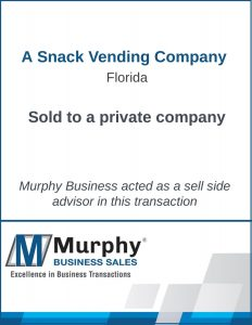 A Snack Vending Company Sold by Murphy Business Clearwater Office