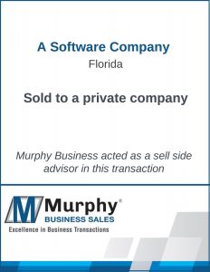 A Software Company Sold by Murphy Business Clearwater Office