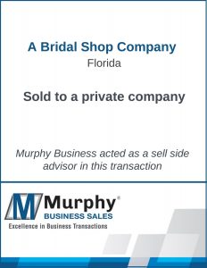 A Bridal Shop Company Sold by Murphy Business Clearwater Office