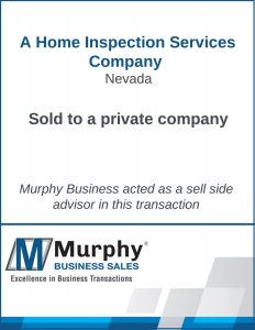 A Home Inspection Company Sold by Murphy Business Clearwater Office