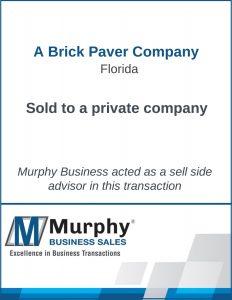 A Brick Paver Company Sold by Murphy Business Clearwater Office