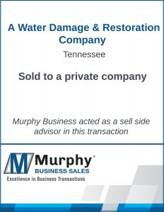 A Water Damage & Restoration Company Sold by Murphy Business Clearwater Office