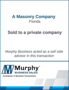 A Masonry Company Sold by Murphy Business Clearwater Office