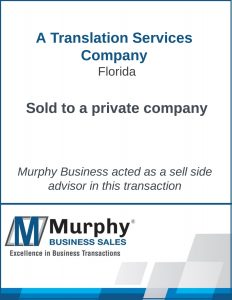 A Translation Services Company Sold by Murphy Business Clearwater Office