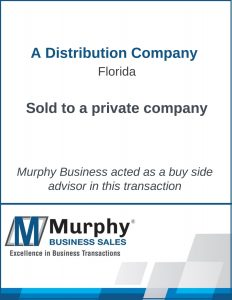 A Distribution Company Sold by Murphy Business Clearwater Office