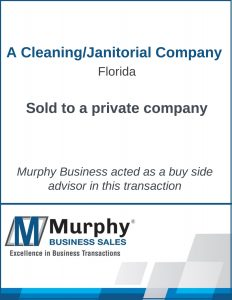 A Janitorial Company Sold Murphy Business Clearwater Office